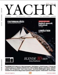 Yacht Magazin 2010. december-január címlap, benne a BUDA motorosról szóló hírrel